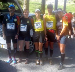 Tomé, Carla, Paula, Serra e Filipa na Corrida da Freita 2013