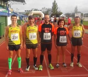 Paixão, Paulino, Farinha, Mourato e Cordeiro em Villanuela de la Serena 2013