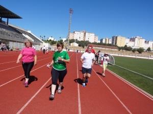 Meio milhar de pessoas terá entrado na pista de atletismo de Portalegre