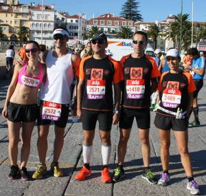 Mafalda, Pedro, Luis, Miguel,  Paula, Bruno e Emilio (ausentes na foto) terminaram a Maratona.