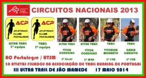 6 pódios nos Circuitos Nacionais de Trail e de Ultra Trail