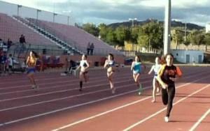Ana Azeitona nos 100 m (foto CEN)