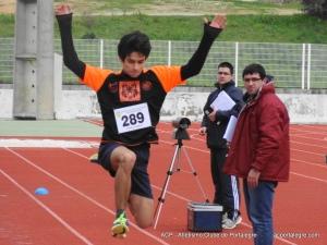 António Franco 1º nos 100 m e no Triplo