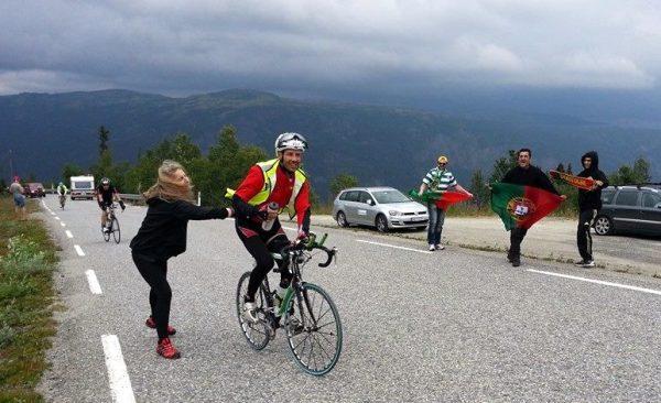 Nuno Vasco no percurso de ciclismo do NXTRI.