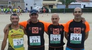 Paulino, Parente, Costa e Moreira em Villar del Rey 2014