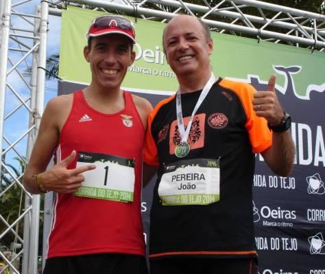 Sérgio Silva (1º) e João Pereira (1884º) na Corrida do Tejo 2014