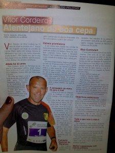 Vítor Cordeiro em destaque na Revista Atletismo