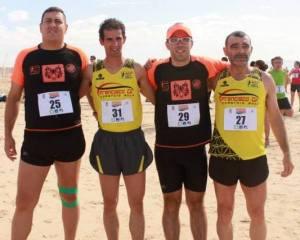 Carrilho, Semedo, Farinha e Paulino: um ano mais a correr e a hidratar no Algarve. :)