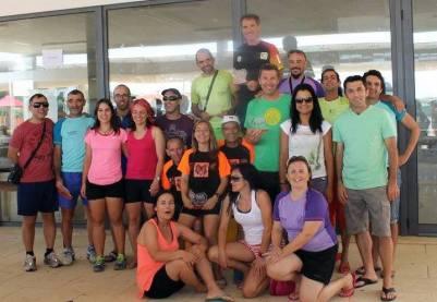 2.ª equipa por mérito e a mais numerosa no Trail do Almonda 2015 (foto de Paula Maurício)