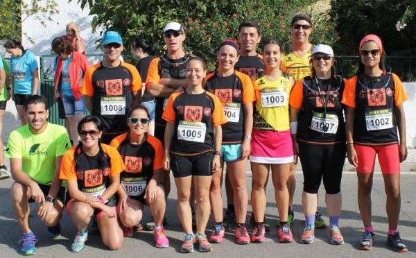 Equipa do ACP presente no Trail Curto do Almonda (foto de Paula Maurício)