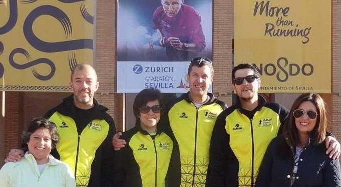 8 maratonistas emSevilha