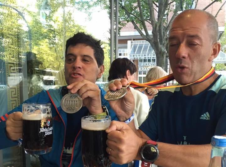 Monteiro e Rodrigues na Maratona deBerlim